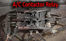 The air conditioning contactor takes the full brunt of the electrical load for the entire air conditioning system