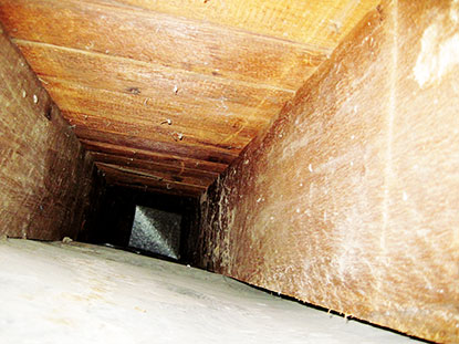 Even clean wall cavity air ducts add to indoor air pollution