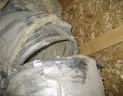 Old air ducts can deteriorate. Air conditioning service and Heating service.