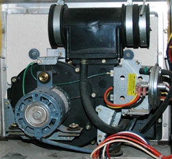 Carrier draft inducer motor assembly