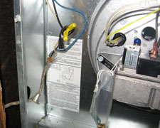 This is an electrical problem waiting to occur in this mobile home furnace