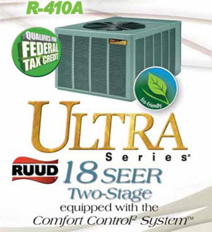RUUD air conditioners and heaters