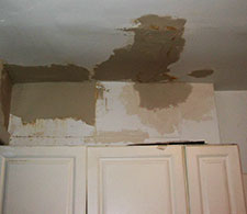 Water damage from a plugged condensation drain on your air conditioner can casue severe damage